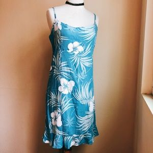 Aloha Hut Tropical Cami Ruffle Dress